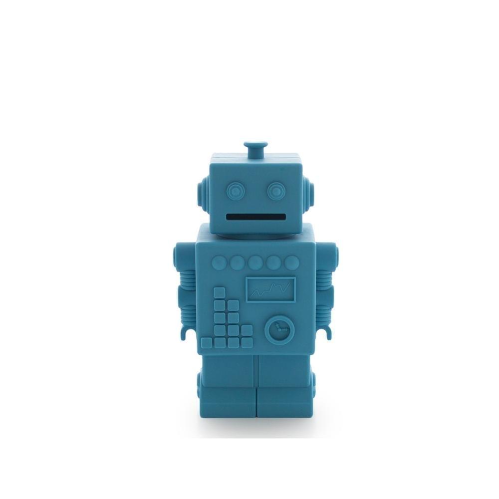 Robot Piggy Bank - Blue