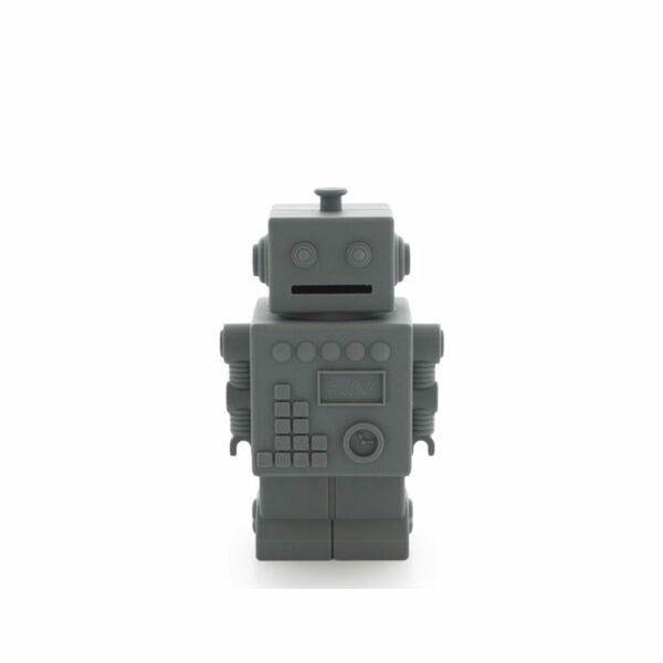 Robot Piggy Bank - Dark Grey