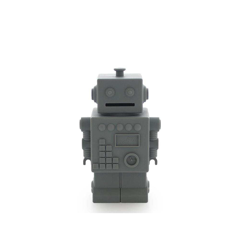 KG Design – Robot Piggy Bank – Dark Grey