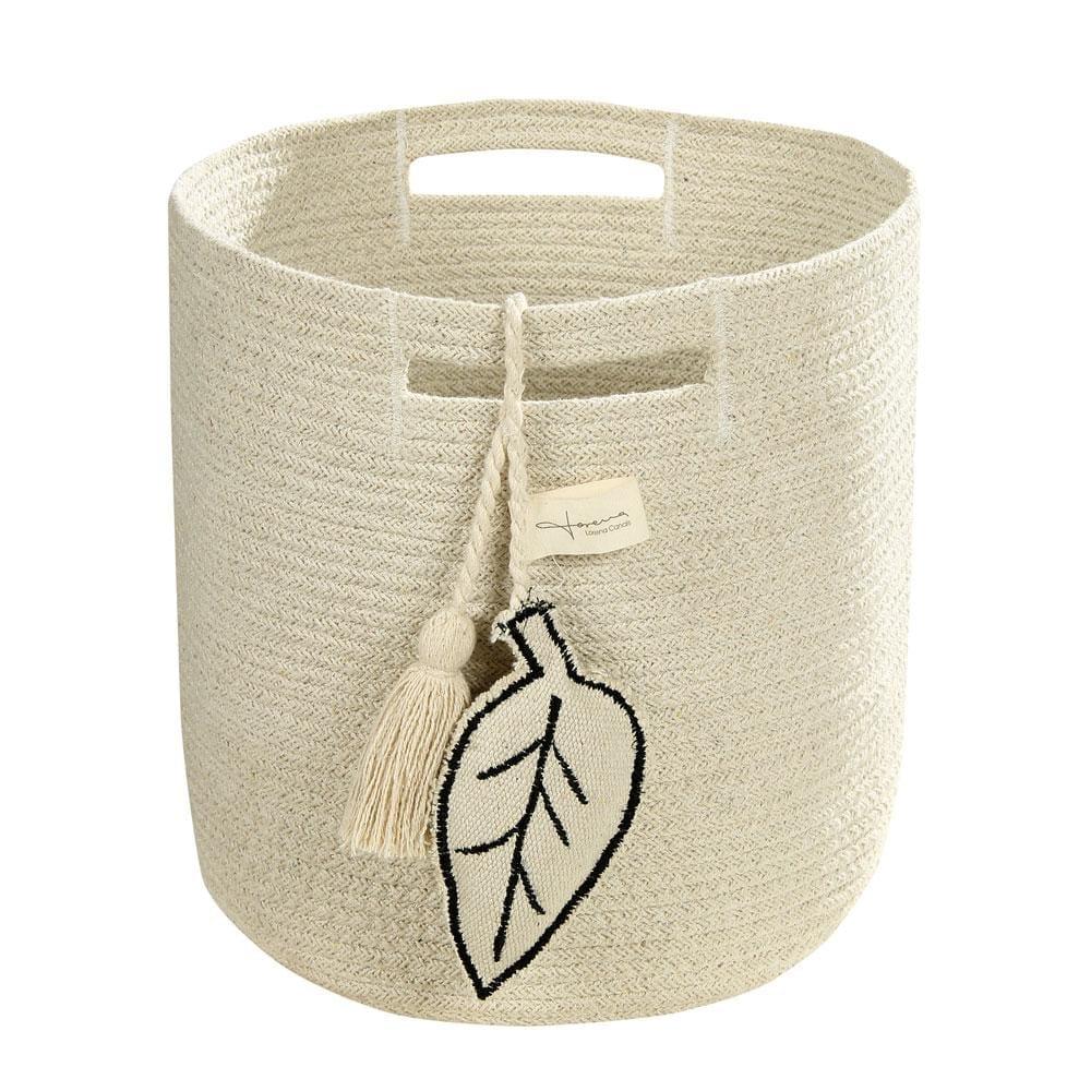 Lorena Canals – Storage Basket – Leaf – Natural – 30 x 30 cm