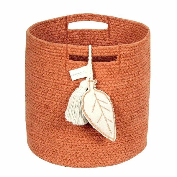 Lorena Canals - Washable Basket - Leaf - Terracotta