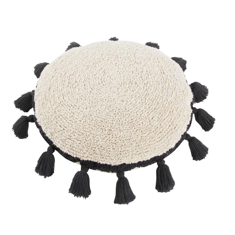Lorena Canals – Circle Cushion – Black – ø 48 cm