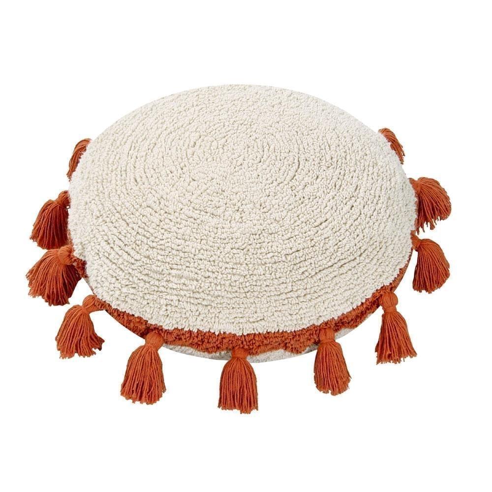 Lorena Canals – Circle Cushion – Terracotta – ø 48 cm