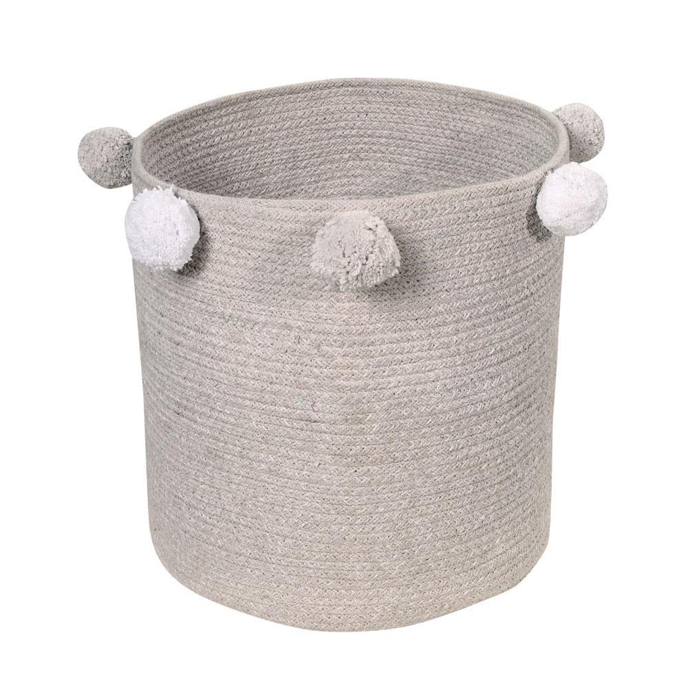 Opbergmand – Bubbly – Grey – 30 x ø 30 cm