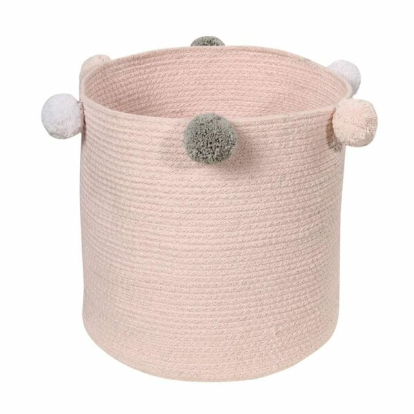 Lorena Canals - Washable Basket - Bubbly - Pink