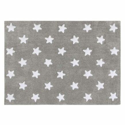Lorena Canals - Washable Rug - Stars - Grey/White Stars