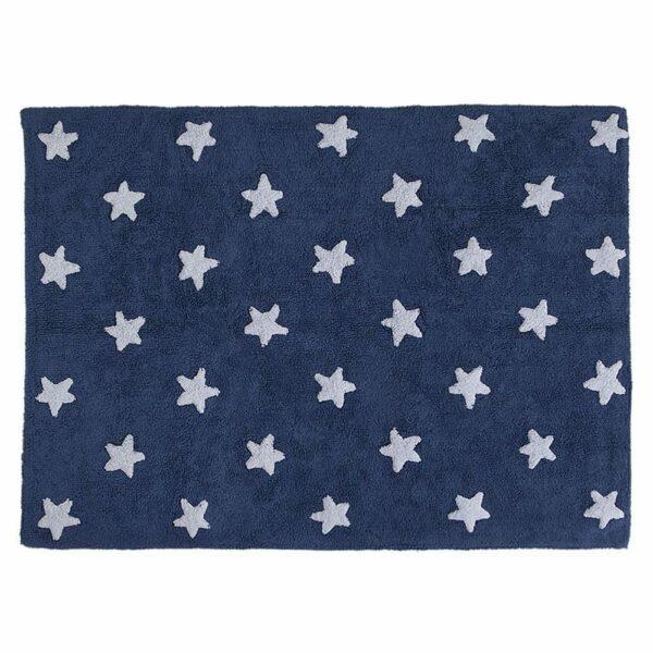 Lorena Canals - Washable Rug - Stars - Navy/ White Stars