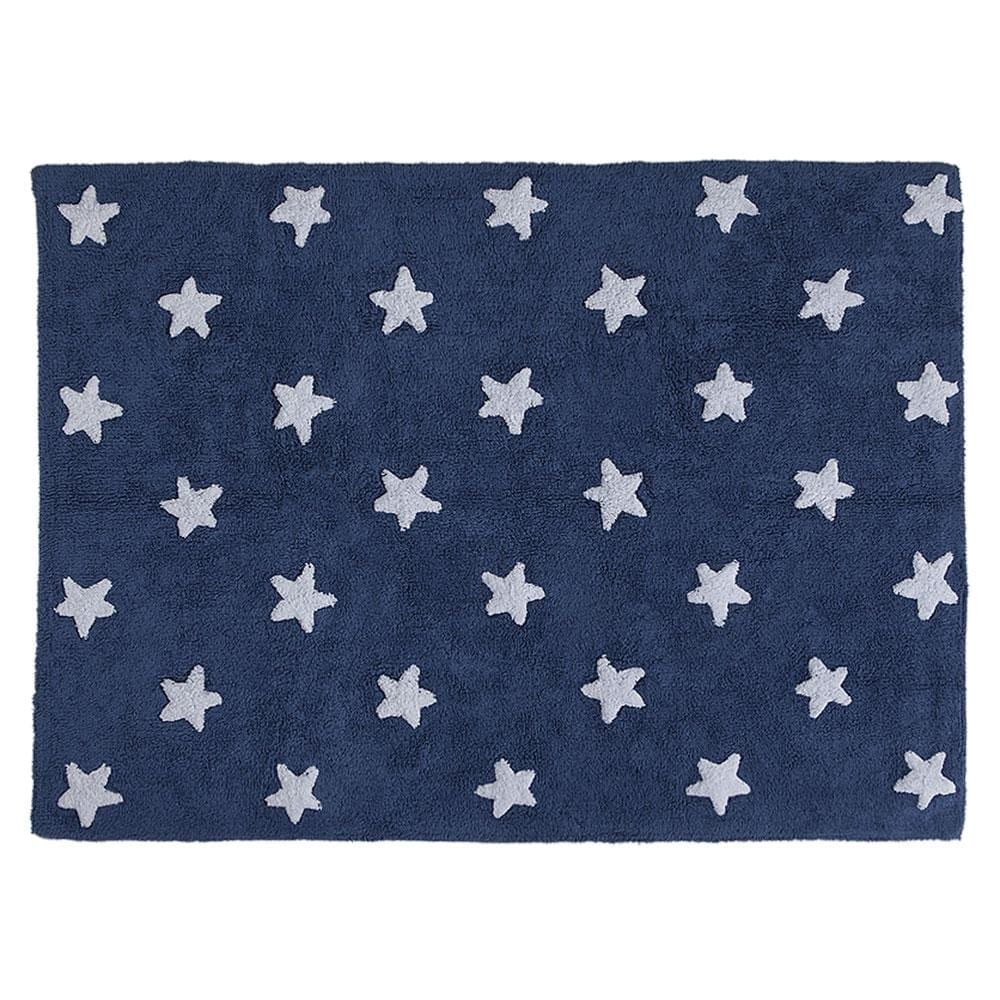Washable Rug – Stars – Navy/ White Stars – 120 x 160 cm