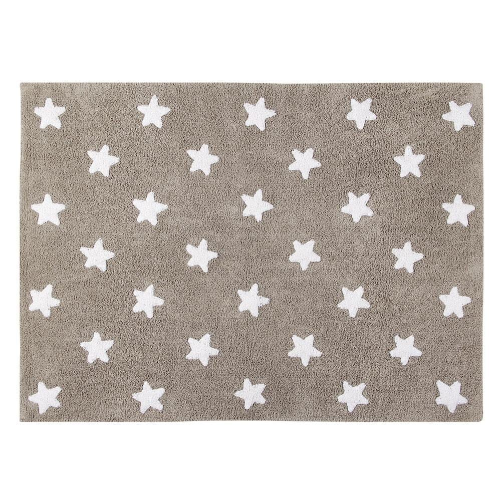 Lorena Canals - Washable Rug - Stars - Mouse/White Stars
