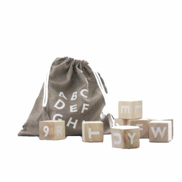 Ooh Noo - Alphabet Wooden Blocks - White