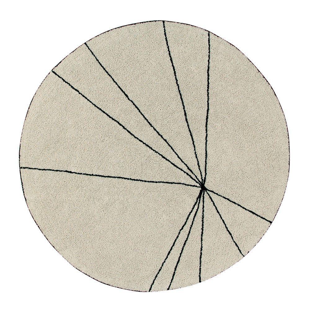 Lorena Canals – Round Rug – Trace – Beige – ø 160 cm