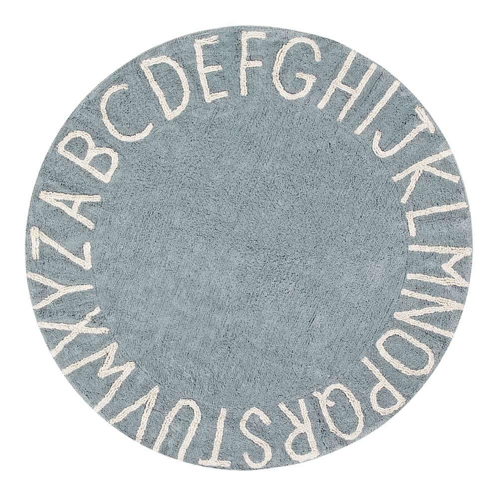 Round Rug – ABC – Blue – ø 150 cm