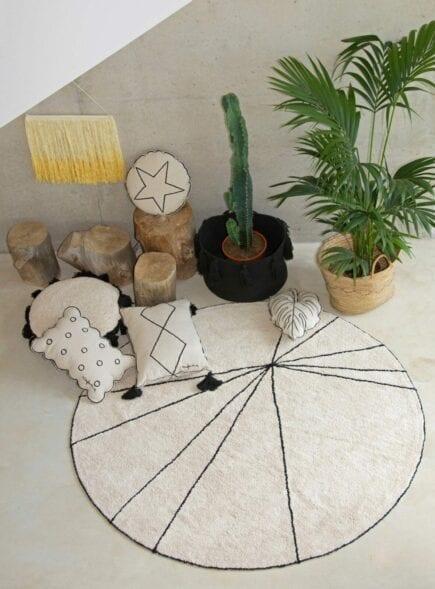Lorena Canals - Wasbaar Kussen - Embroidery - Round Star