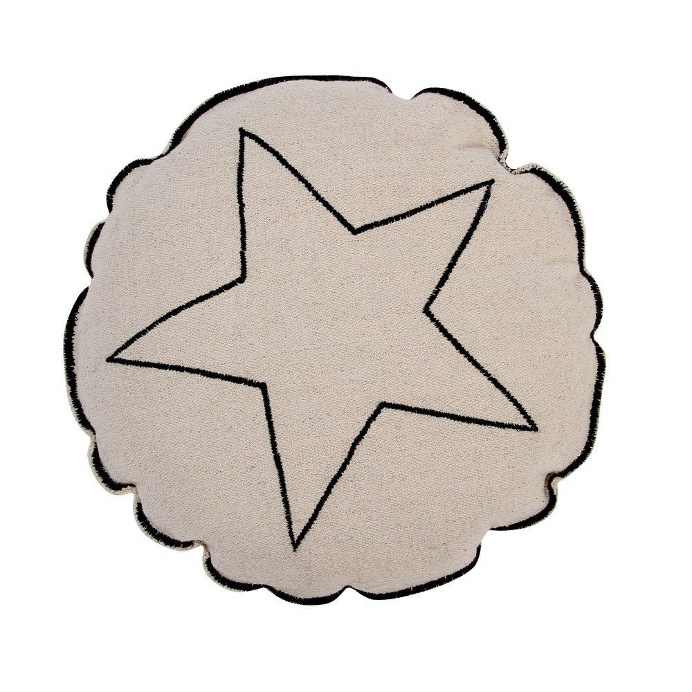 Lorena Canals - Washable Cushion - Embroidery - Round Star