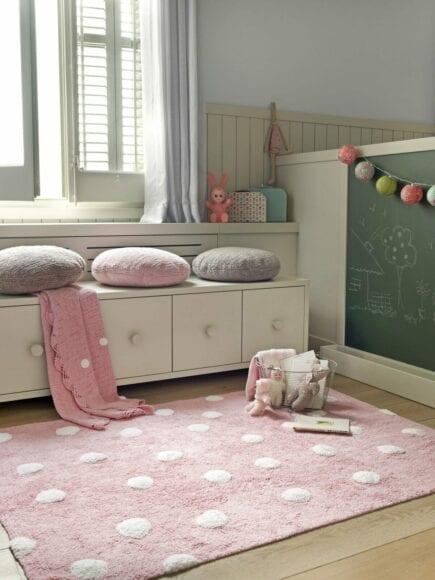 Lorena Canals - Wasbaar Vloerkleed - Polka Dots - Pink - 120 x 160 cm