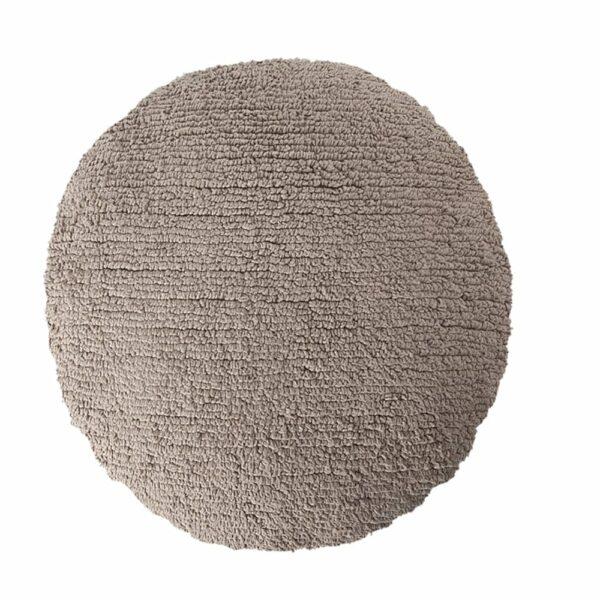 Lorena Canals - Washable Cushion - Big Dot - Mouse - ø 50 cm