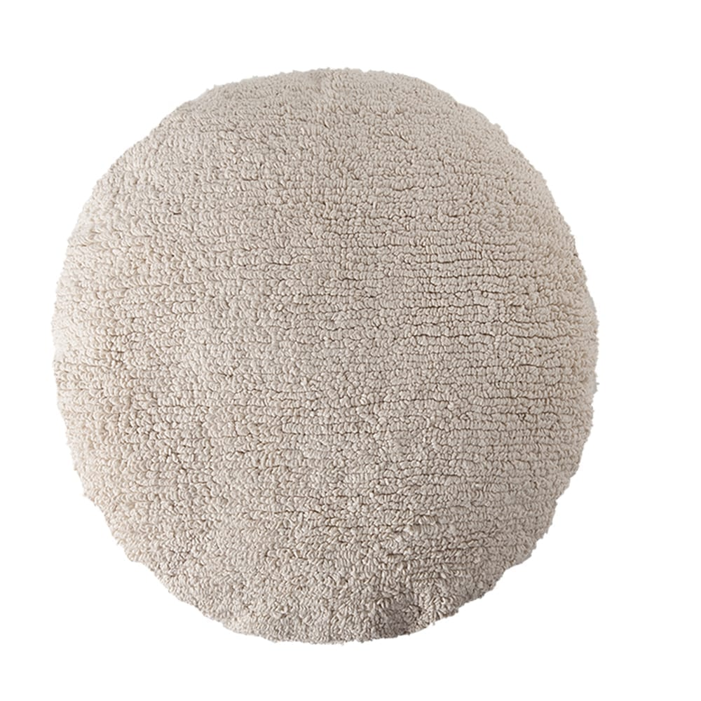 Lorena Canals - Washable Cushion - Big Dot - Naturel - ø 50 cm