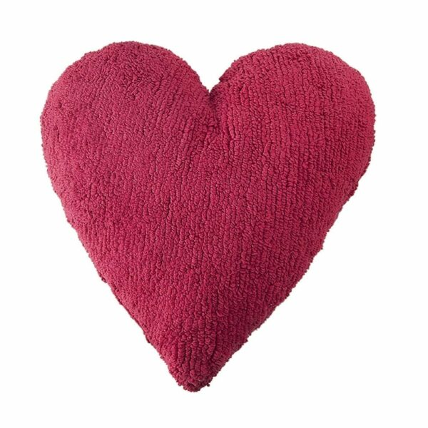 Lorena Canals - Heart Cushion - Fuchsia - 47 x 50 cm