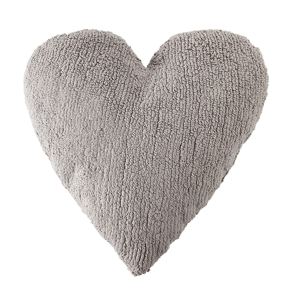 Lorena Canals - Heart Cushion - Grey - 47 x 50 cm
