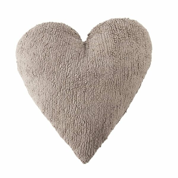 Lorena Canals - Heart Cushion - Mouse - 47 x 50 cm