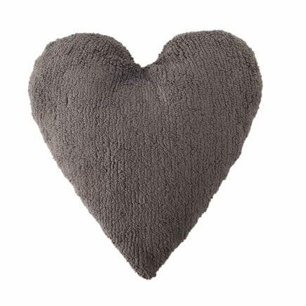 Lorena Canals - Heart Cushion - Elephant Grey - 47 x 50 cm