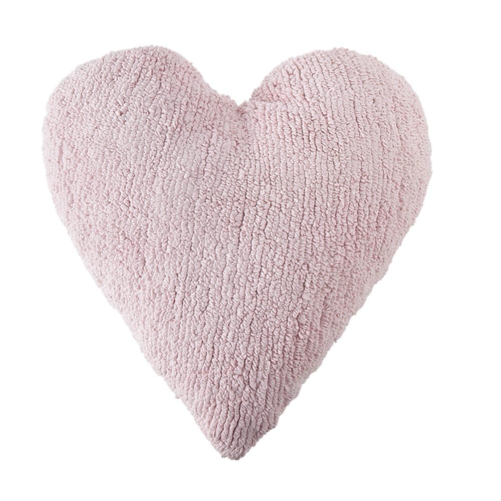 Wasbaar Kussen – Heart – Pink – 47 x 50 cm