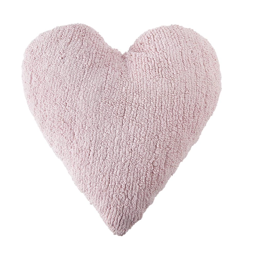 Lorena Canals – Heart Cushion – Pink – 47 x 50 cm
