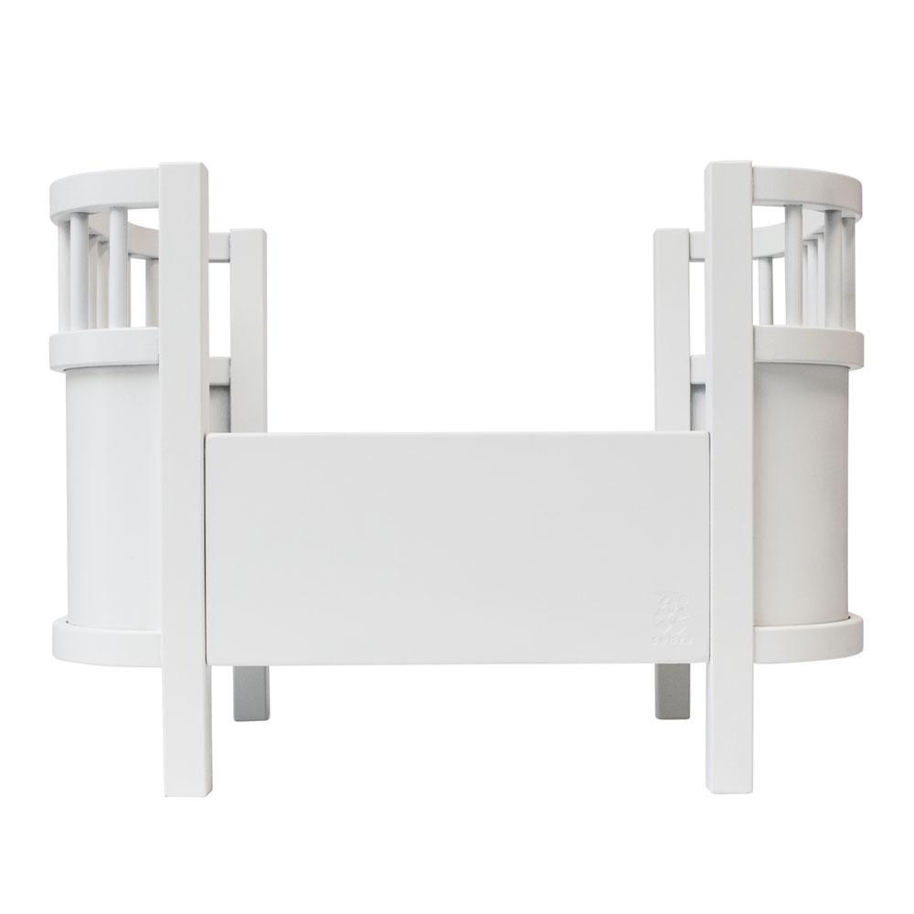 Puppenbett aus Holz – Weiß