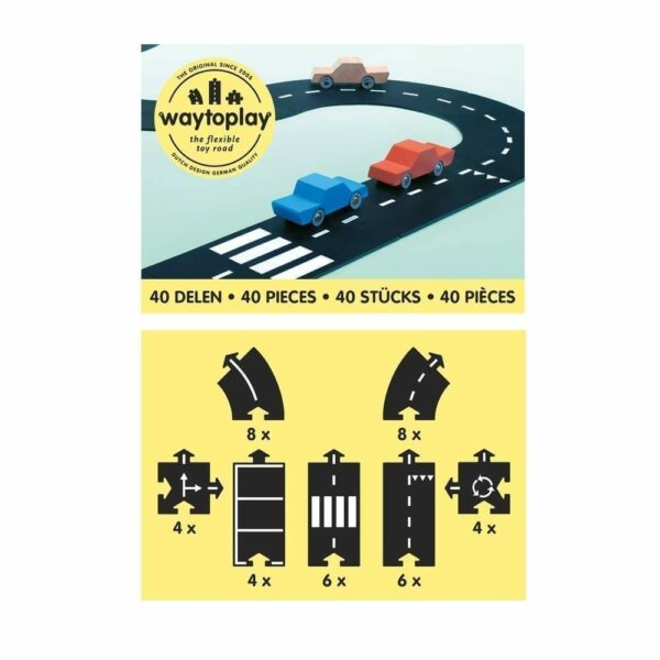 Waytoplay Flexible Toy Road - King of the Road - 40 pieces
