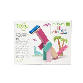 Tegu – Magnetic Wooden Blocks – Blossom – 14-piece set