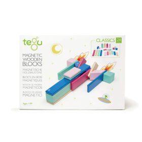 Tegu – Magnetic Wooden Blocks – Blossom – 24-piece set