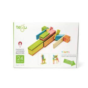 Tegu – Magnetic Wooden Blocks – Tints – 24-piece set