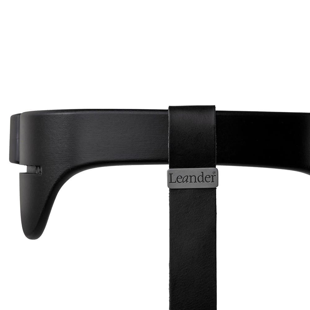 Leander - High Chair, Safety Bar Black + Strap Black