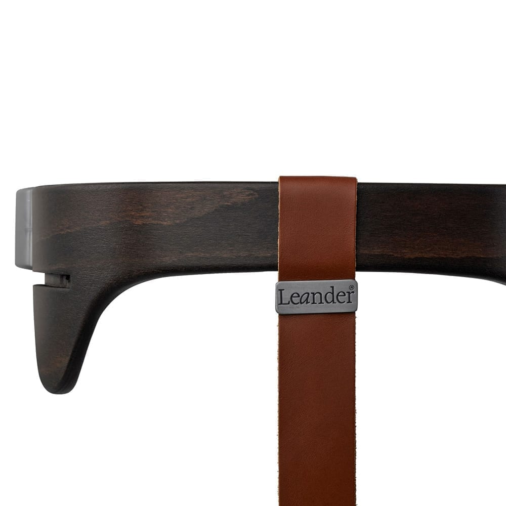 Leander - High Chair, Safety Bar Walnut + Strap Brown