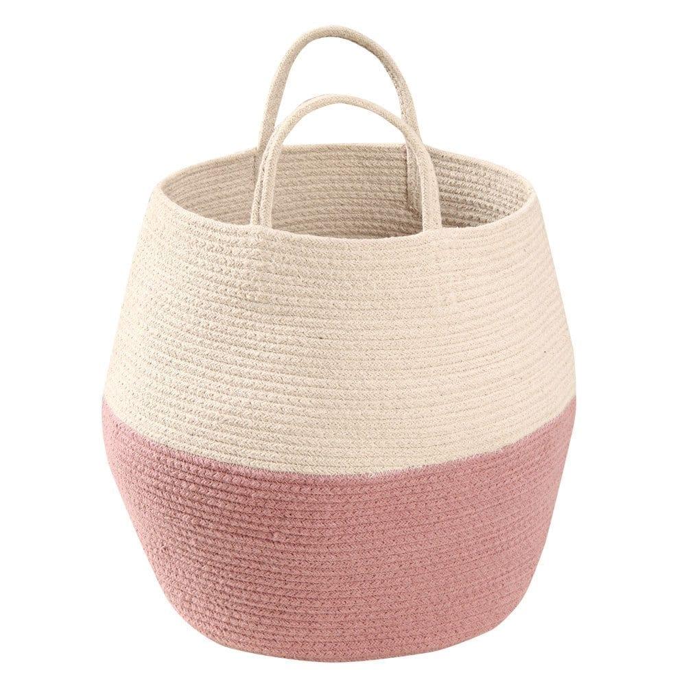Lorena Canals - Zoco Basket - Ash Rose/Natural - 35 x ø 30 cm
