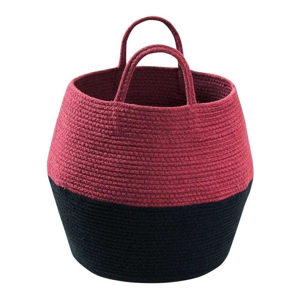 Lorena Canals - Zoco Basket - Black/Aubergine - 35 x ø 30 cm