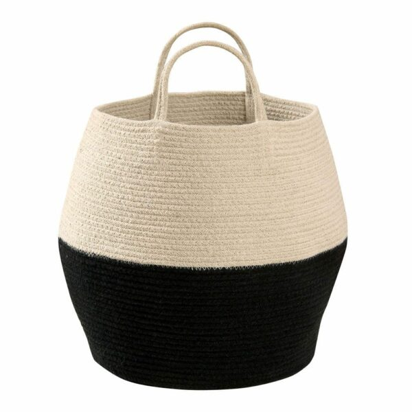 Lorena Canals - Zoco Basket - Black/Natural - 35 x ø 30 cm