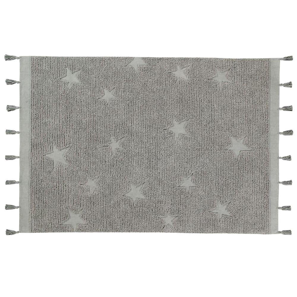 Lorena Canals – Waschbarer Teppich – Hippy Stars – Grau – 120 x 175 cm