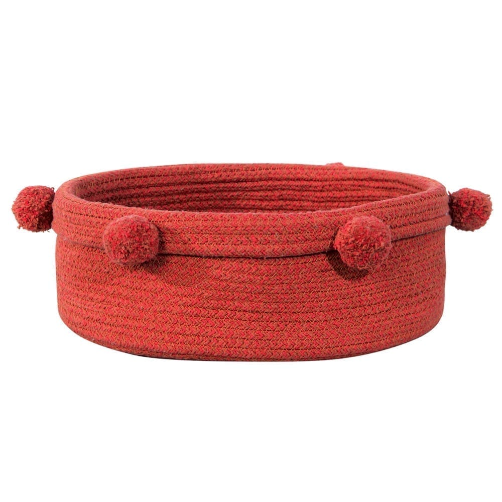 Lorena Canals - Washable Basket - Tray - Brick Red - 12 x Ø 30 cm