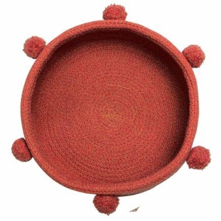 Lorena Canals - Kleine Opbergmand - Tray - Brick Red - 12 x ø 30 cm