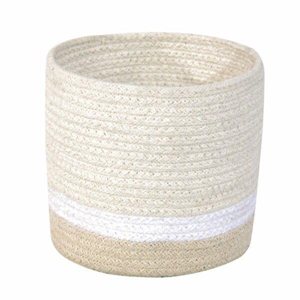 Lorena Canals - Mini Basket Tricolor - Ivory - 15 x Ø 15 cm
