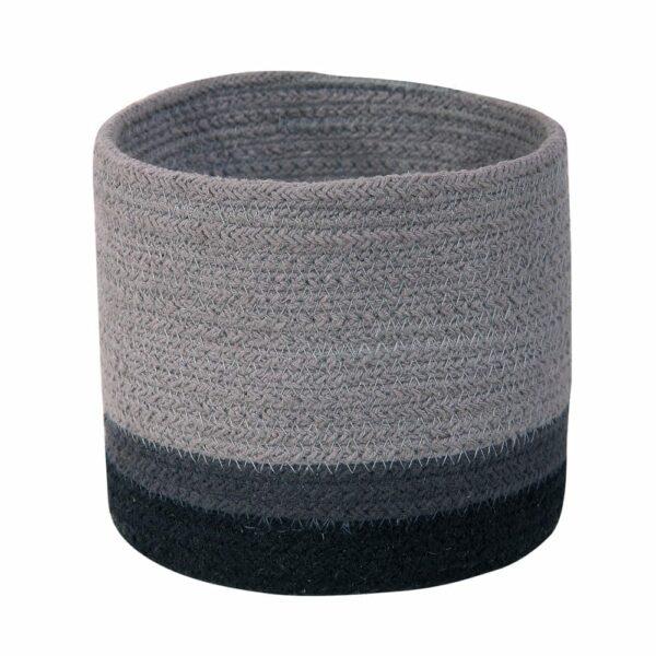 Lorena Canals - Mini Basket Tricolor - Pearl Grey - 15 x Ø 15 cm