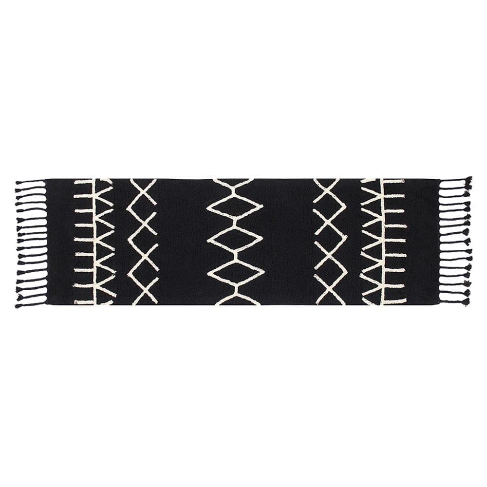 Lorena Canals Washable Rug Bereber Black 80 x 200 cm