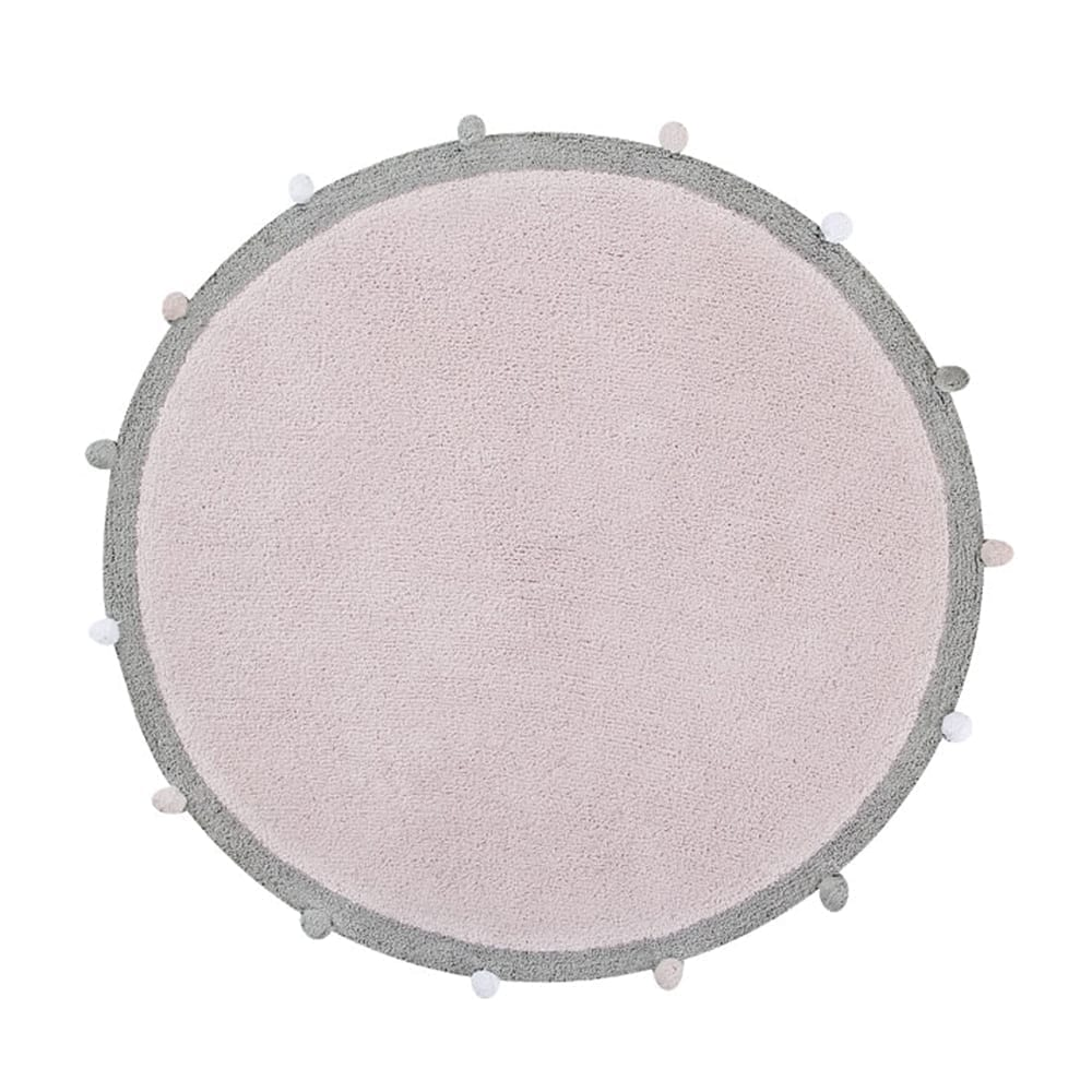 Lorena Canals – Baby Room Rug – Bubbly – Pink – ø 120 cm