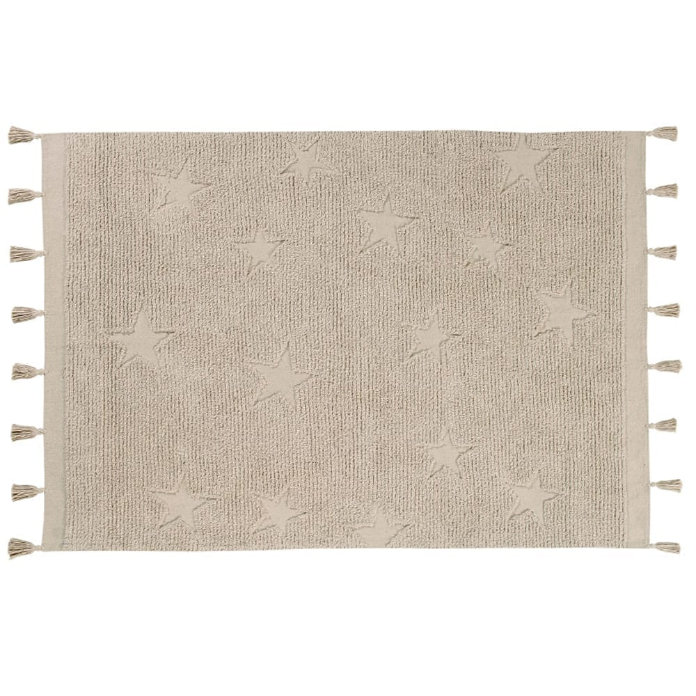 Waschbarer Teppich – Hippy Stars – Natural – 120 x 175 cm