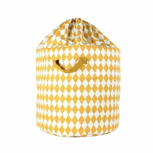 Nobodinoz Baobab Toy Bag Diamonds in honey