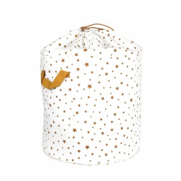 Nobodinoz Baobab Toy Bag Stars in mustard