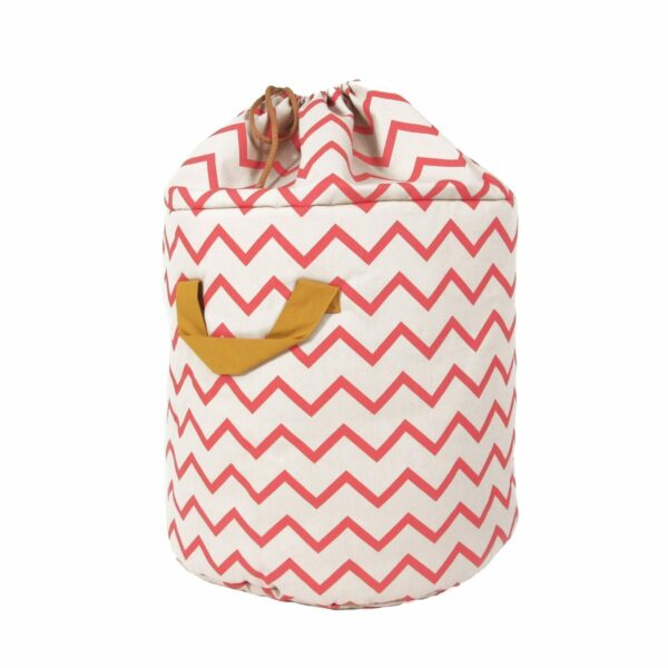 Nobodinoz Baobab Toy Bag Zig Zag in pink