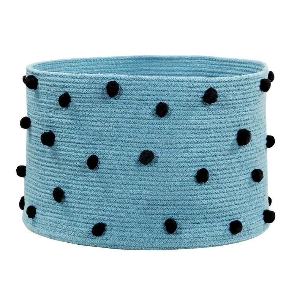 Lorena Canals - Pebbles Basket - Petroleum - 30 x ø 45 cm