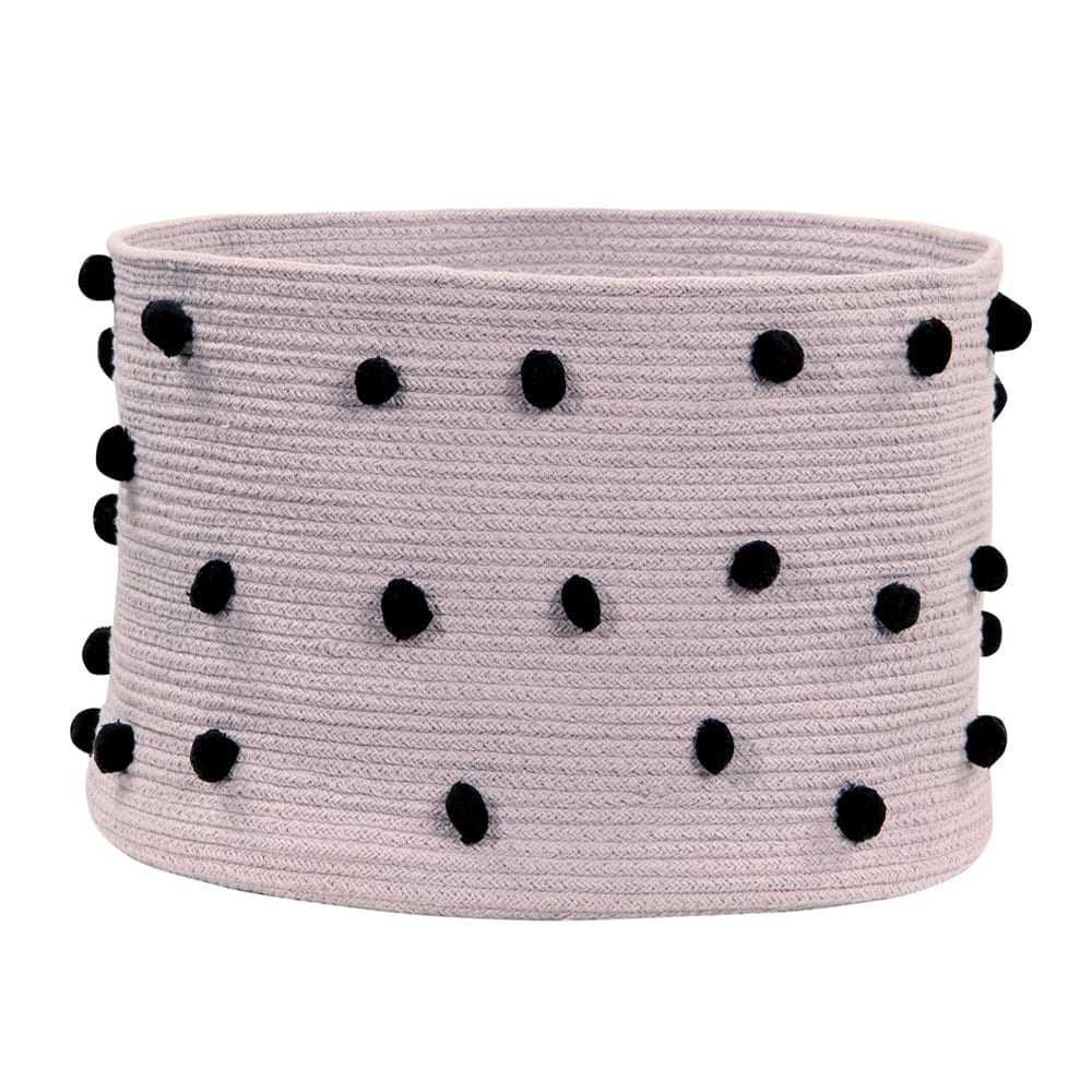 Lorena Canals – Pebbles Basket – Wood Rose – 30 x ø 45 cm